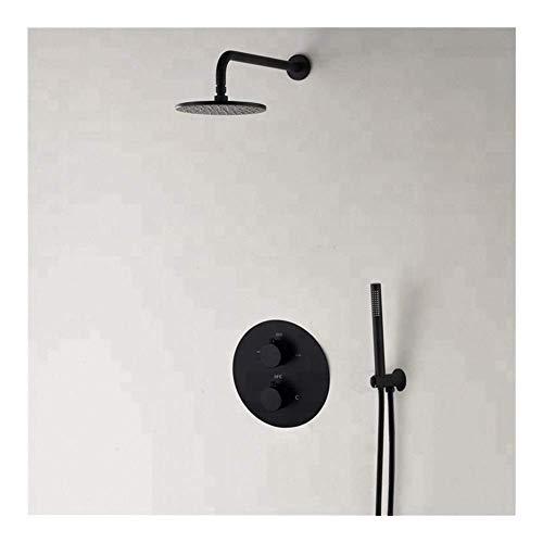 W-SHTAO L-WSWS - Juego de ducha de mano con cabezal de ducha para baño, mezclador termostático de agua, cabezales de ducha de 10 pulgadas (tipo de grifo de baño y ducha: juegos de ducha)