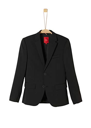 s.Oliver RED LABEL Jungen Slim: Elegantes Sakko black 164.SLIM