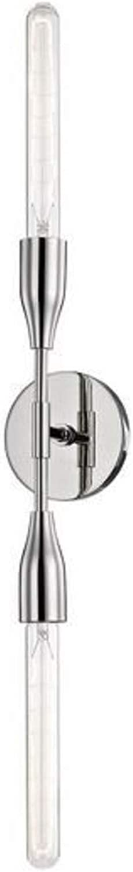 Casa Padrino Luxus Doppel Wandleuchte Silber 12,1 x 8,9 8,9 8,9 x H. 76,2 cm - Luxus Kollektion B07Q7ZS8HH | Zart  866595