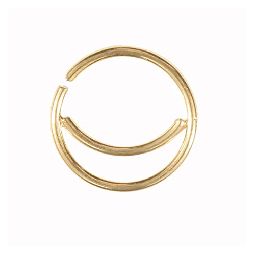 HLWJ Multicolor Punk Nose Ring Jewelry (Color : Gold)