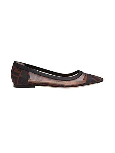 FENDI Luxury Fashion Damen 8F6828AK11F0VAV Braun Synthetisch Fasern Ballerinas | Herbst Winter 20