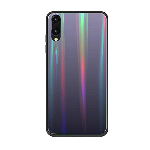 Matop Aurora Phone Case Compatible with Huawei P8 Lite Protection Cover, Anti-shock Tempered Glass+TPU Frame+Gradient Color Combination Back Shell for HUAWEI P8 Lite(Grey)