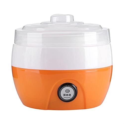 WWWL Yogurtera Máquina automática eléctrica de Yogurt Machine Yogur DIY Herramienta de plástico Contenedor de plástico Aparato de Cocina (Color : Orange)