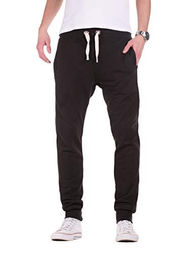 Yazubi Edward - Pantaloni Tuta Uomo Cotone Slim Sweatpants Jogging Sportivo Neri Scuro, Nero (Black 194008), S