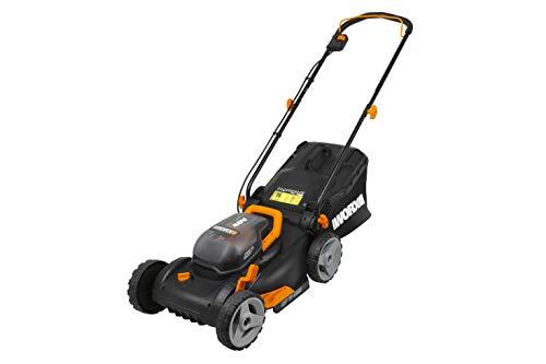 WORX WG743E Akku-Rasenmäher 40V – Profi Rasenmäher mit Mulchfunktion & PowerShare Akku – Rasenmähen ohne Kabel – Ideal für Gärten bis 500m²