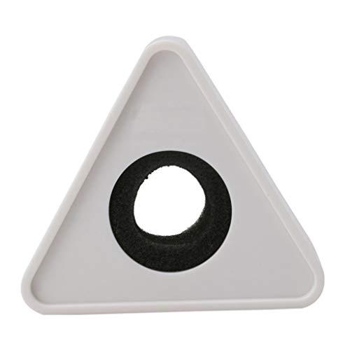 Yoging - Micrófono triangular con orificio negro, entrevistas televisivas con logotipo de la estación DIY