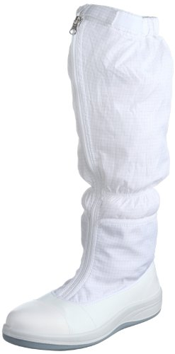 [ミドリ安全] 静電安全靴 クリーンルーム向け トゥキャップ付き ブーツタイプ SCR1200 フルCAP フード メンズ ホワイト 28.0(28cm)