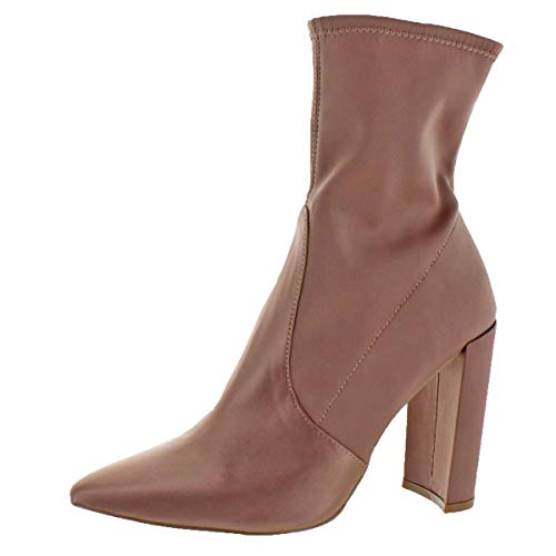 Steve Madden Women's Tony Pointed Toe Bootie, Blush Satin, 7.5 M