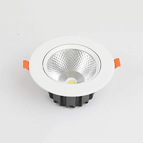 Lámpara LED Focos de aluminio empotrar techo moda actual Ronda Focos ahorro energía LED de panel plano comercial Embedded integrada aparato de iluminación Panel rejilla oficina comercial Exposiciones
