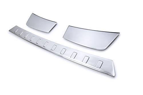 tuning-art BL952 Ladekantenschutz mit Abkantung für Opel Grandland X 2017-, Farbe:Silber