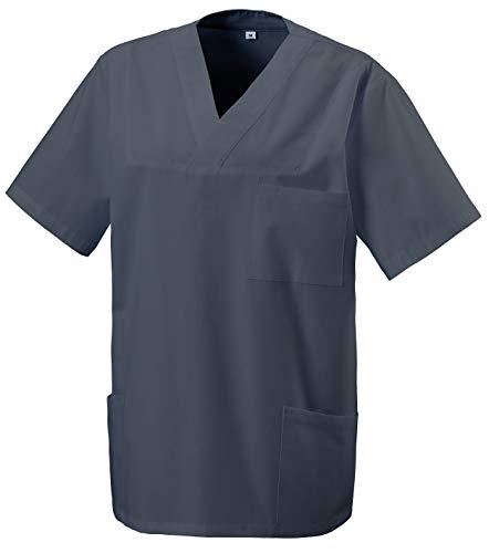 Unbekannt Schlupfkasack Kasack Schlupfjacke Schlupfhemd für Medizin und Pflege OP-Kleidung Grau Gr. 2XL