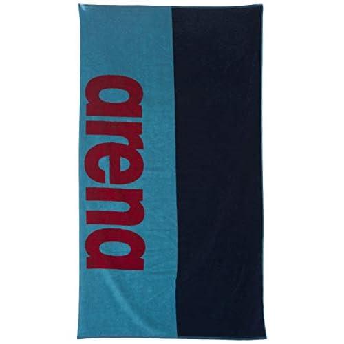 Arena Beach Soft, Telo di Cotone Unisex Adulto, Multicolore (Sea Blue/Navy), Taglia Unica