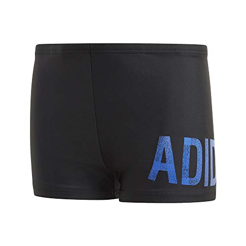 adidas Boys' Lineage Badehose Boxer Swimming Trunks, Black/Royblu, 128
