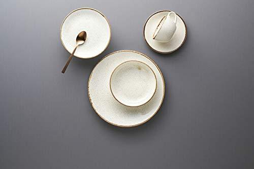 Seasons - Vajilla de porcelana (30 piezas, 6 personas), color beige