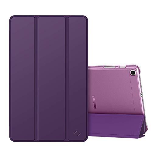 Fintie Hülle kompatibel mit Samsung Galaxy Tab A 10,1 SM-T510/T515 2019 - Superdünn Schutzhülle mit durchsichtiger Rückseite Abdeckung Cover für Samsung Galaxy Tab A 10.1 Zoll 2019 Tablet, Lila