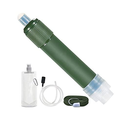 SUNGW Paja De Filtro Agua,Pipeta Purificación Agua Personal para Acampar Al Aire Libre,Filtro 3 Etapas,para Senderismo,Mochilero Y Viaje,Engranaje Supervivencia Emergencia