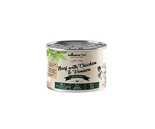 Chicopee Gatito Paté de Carne de res, Pollo, carne de Venado de Estaño Para Gatitos 195g, Nueva Chicopee, Conservas de Gatos, Noticias