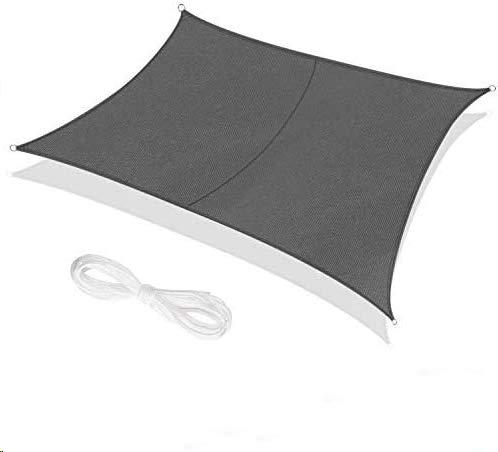 RATEL Sonnensegel 3x4 m graues Rechteckig, Wasserdicht Windschutz mit 95% UV Schutz Sonnenschutz für Draußen, Patio, Garten Terrasse Camping