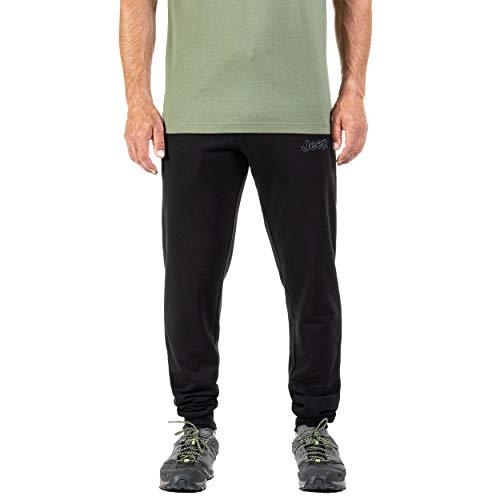 Jeep Herren Pantaloni Tuta Logo Outline J20W Hose, Black/Medium Grey, M