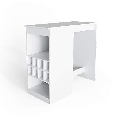 Vicco Bartisch Ross Weiß Bartresen Stehtisch Tresentisch Bistrotisch Tisch wahlweise mit Barhocker (ohne Barhocker)