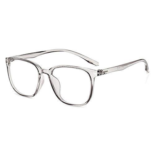 WEIDD Gafas De Computadora, Reducen La Fatiga Ocular, Luz Azul, Gafas De Juego Gafas Anti-Blu-Ray Fashion Tr90 Big Frame Con Marco De MiopíA-C6_Anti-Blu-Ray