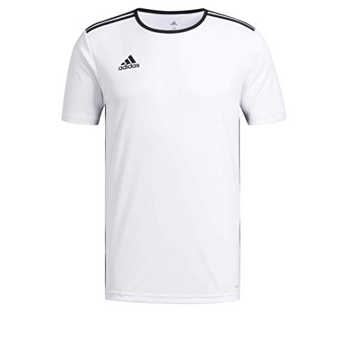 adidas Maillot de Football Entrada 18 pour Homme, Homme, Chemise, EEE63, Blanc/Noir, M