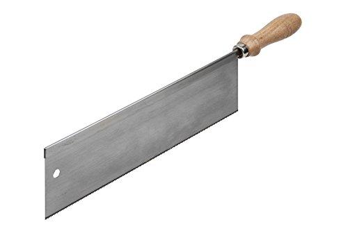wolfcraft I Handsäge I 6950000 I für Holz, Tischlerplatten, kunststoffbeschichtete Spanplatten, Fußleisten geeignet I Zahnform geschränkt & geschliffen I verzahnte Länge 300 mm
