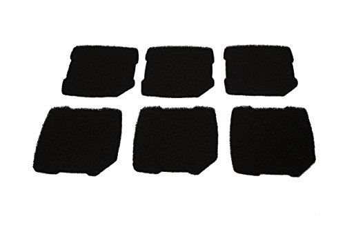 LTWHOME Compatible Activé Carboné Mousseux Filtration Tapis Convient pour Eheim Professionnel Pro 3 250, 250T, 350, 350T, 600/ Ultra G Pro 3 Filtre 2071,2073,2075 Et Eheim Pro 3e 350/2074 (Paquet de 6)