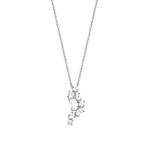 Esprit Damen Halskette 925 Sterling Silber Zirkonia floating stones 42 cm weiß ESNL93090A420