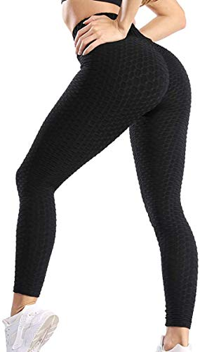 MAGIC SELECT Sport-Leggings für Damen, hohe Taille, elastisch, für Yoga, Fitness, Schwarz M