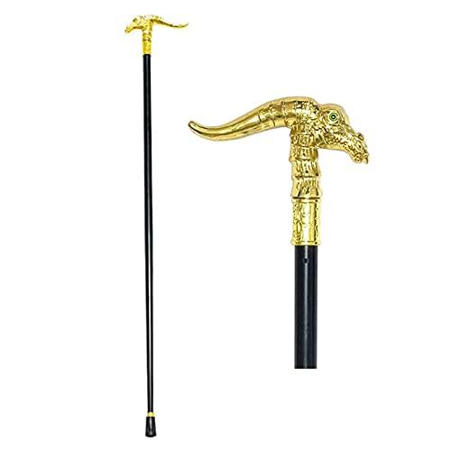 N\C El bastón Que Camina Elegante encabeza los Bastones de Lujo de Oro del Dinosaurio, LKWK Hecho a Mano