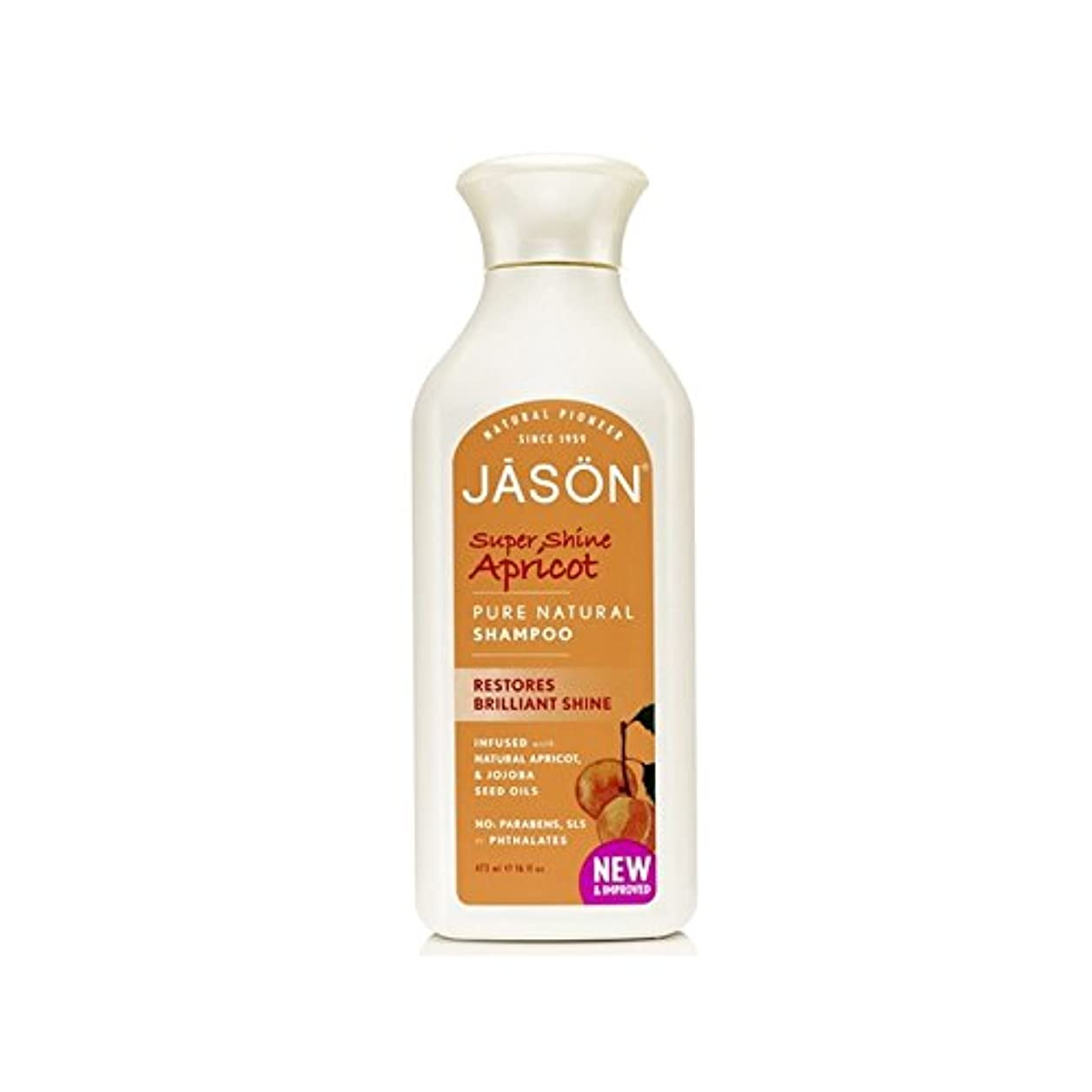キャプションセンターについてJason Organic Apricot Shampoo (473ml) - ジェイソン有機アプリコットシャンプー(473ミリリットル) [並行輸入品]
