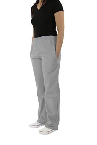 Spectrum Soft Scrub Pants - Elastic Waist Pants for Unisex-Grey -XL(Petite)