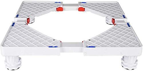 SHKUU Soporte Base para Lavadora, Soporte Base móvil Multifuncional Carro para electrodomésticos Lavadora Rodillo Ajustable Base móvil Universal