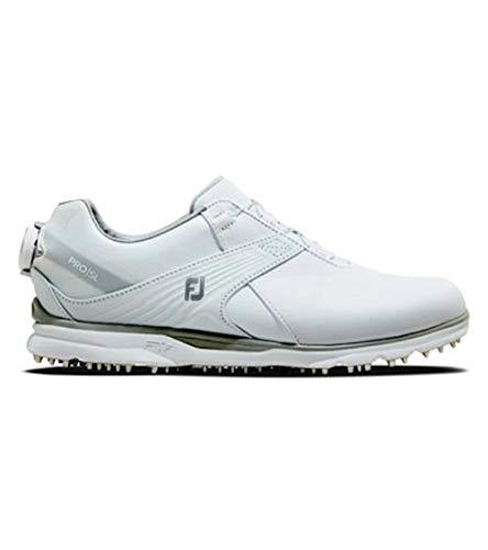 FootJoy Pro SL, Zapatos de Golf Mujer, All White Boa, 40 EU