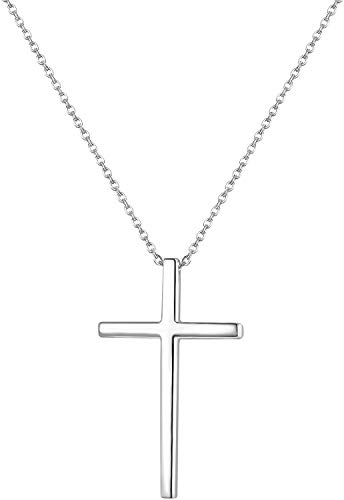LOLIAS 14K Gold Plated Tiny Cross Necklaces 925 Sterling Silver Cross Necklaces Women Pendant Necklaces Chain Choker Necklaces Gift for Women Necklace Jewelry