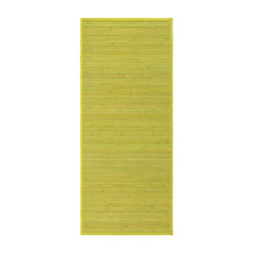 Alfombra Pasillera, Dormitorio o Salón de Madera Bambú(Verde, 75 x 175 cm)