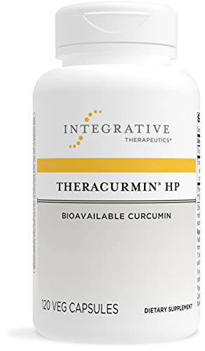 Integrative Therapeutics Theracurmin HP - Curcumin -Turmeric Supplement - for Muscle Recovery and Relief of Minor Pain Due to Occasional Overuse* - Vegan - Dairy Free - Gluten Free - 120 Capsules