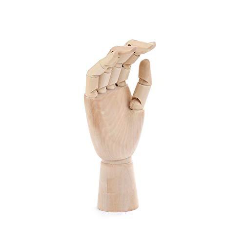 Ruiting Modell Hand aus Holz Holzhandmodell Holzhandskulptur 7