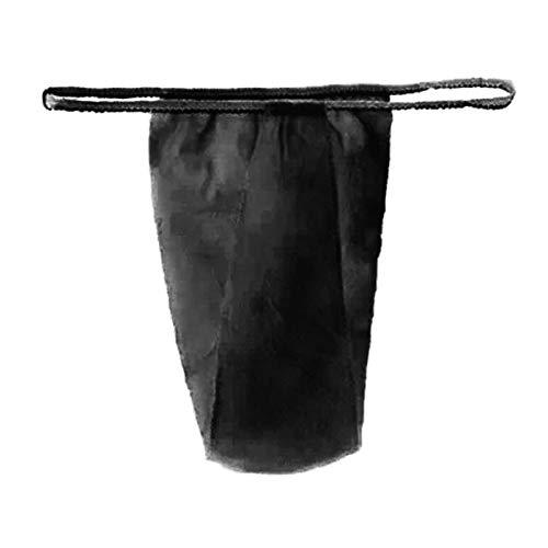 ALEOHALTER 100pcs bragas desechables, suave T tanga para mujeres Spa bronceado encerado (negro)