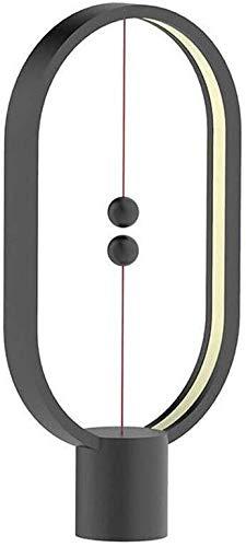 Magnetic Levitation - Lámpara LED inteligente de escritorio con USB, para decoración de habitación, luces creativas de regalo (color negro)