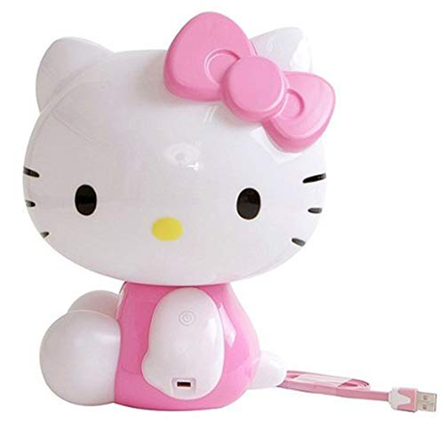 Hello Kitty Lampe LED tactile pour enfants, tout-petits, bébés filles, rechargeable, mignonne veilleuse Kawaii, chargement USB