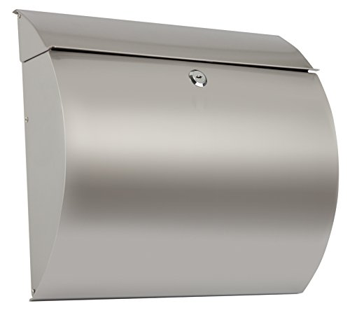 Arregui Aura E5405-12 Buzón Individual de Acero Inoxidable, tamaño L (revistas y sobres C4), Gris, 330 x 375 x 105 mm