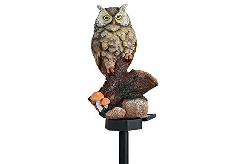 Garden Solar Lights Resin Owl LED Garden Outdoor Decorative Lights Lawn Lamp Light with Stake for Garden Pathway Yard Decorations