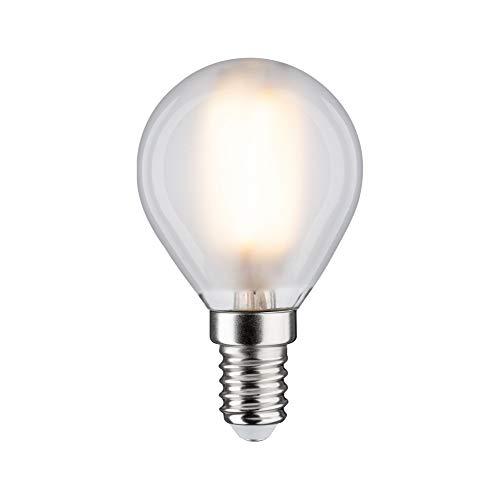 Paulmann 28632 LED Lampe Filament Tropfen 5 Watt Klassik Leuchtmittel dimmbar Matt 2700 K Warmweiß E14