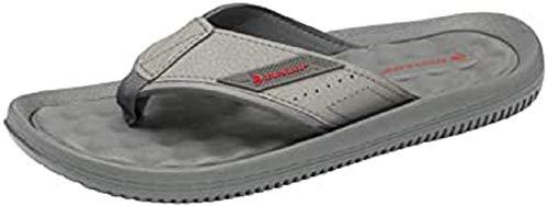 Dunlop Herren Zehentrenner aus Memory-Schaum für den Sommer, Strand, Urlaub, Flip Flops, Grau - Zdmp029 Grau - Größe: 46 EU