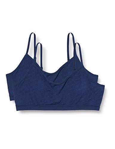 Schiesser Mädchen Multipack 2PACK Bustiers Unterwäsche, dunkelblau, 152