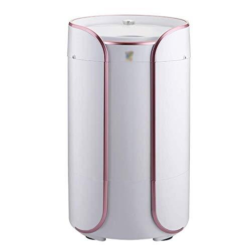 Lavadoras de ropa Mini Lavadora, 2-en-1 Portable, Lavado semiautomático Máquina secador rotatorio con el Tubo de Drenaje, de un Solo Barril de la Cesta de Drenaje Desmontable, Conveniente