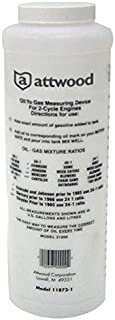 attwood 11873-1 Wide-Mouth Marine Fuel/Oil Mixing Bottle 1-Quart