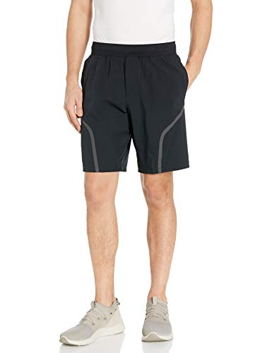 Under Armour Men's Stretch Woven Utility Workout Gym Shorts , Black (001)/Pitch Gray , Large